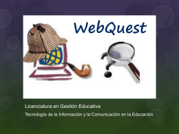 WebQuest - Campus Fundec
