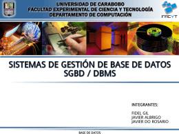 SGBD - DBMS
