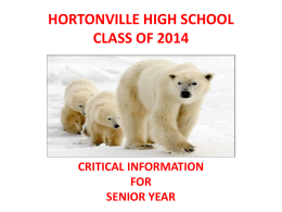 HORTONVILLE HIGH SCHOOL CLASS OF 2014