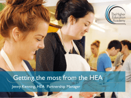 Getting the most from the HEA - Home