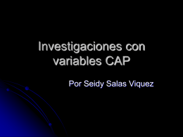 Investigaciones con variables CAP