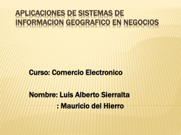 Aplicaciones de Sistemas de Informacion Geografico en …