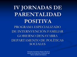 IV JORNADAS DE PARENTALIDAD POSITIVA