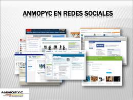 ANMOPYC EN LAS REDES SOCIALES