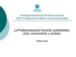 Universidad Academia de Humanismo Cristiano Taller III