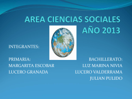 AREA CIENCIAS SOCIALES Y PASTORAL