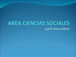 AREA CIENCIAS SOCIALES