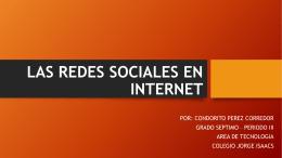 LAS REDES SOCIALES EN LA INTERNET