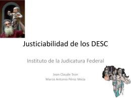 Justiciabilidad de los DESC