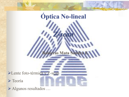 Optica No-lineal Z-scan