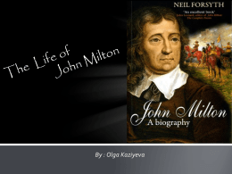 Life of John Milton - College Writing Resources