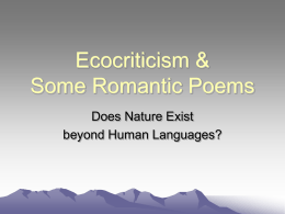 Ecocriticism & Nature Poems