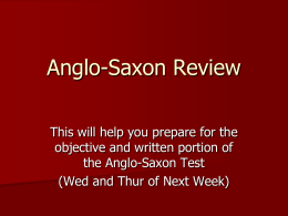 Anglo-Saxon Review Powerpoint