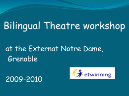 Theatre workshop in Externat Notre Dame Grenoble,France