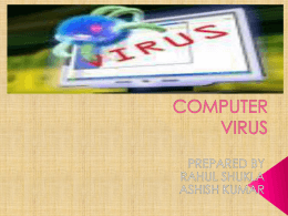 COMPUTER VIRUS - Indian Institute of Technology Kanpur