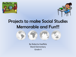 Projects to make Social Studies Fun!!!