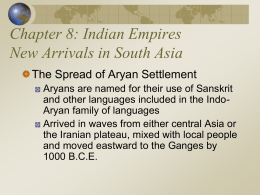 Indian Empires New Arrivals in South Asia