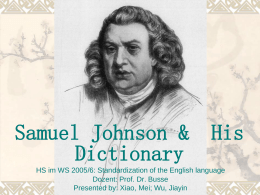 Johnson's Dictionary in1755