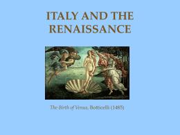17.1: Italy & the Renaissance