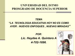 UNIVERSIDAD DEL ISTMO PROSGRADO DE DOCENCIA …