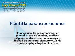 Plantilla para exposiciones