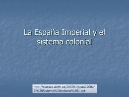 El sistema colonial