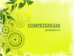 COMPETENCIAS - Juventud +i+e