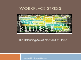Workplace Stress - Middle Tennessee State University