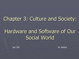 Chapter 3: Culture and Society: Hardware and Software of