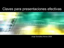 Claves para presentaciones efectivas