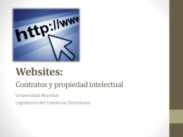 Websites: Contratos y propiedad intelectual
