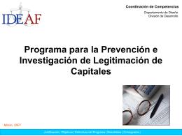 PROGRAMA INSTITUCIONAL PARA EL DESARROLLO DE …