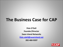The Business Case for CAP