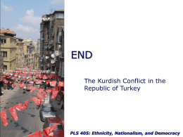 The Kurdish Conflict in the Republic of Turkey