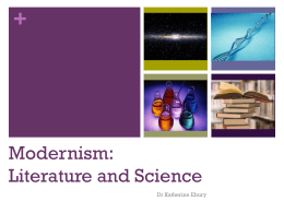 Modernism: Literature and Science