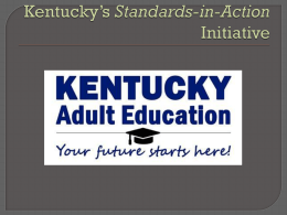 An Overview of the Kentucky Adult Education Common …
