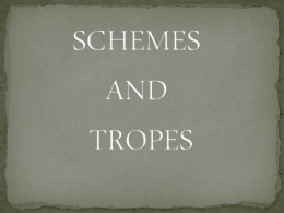 SCHEMES AND TROPES - Jenks Public Schools