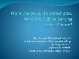 Law School Admission Council's Academic Assistance