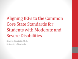 Creating a Standards-Based IEP