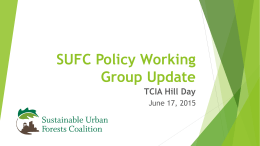 SUFC Policy Working Group Meeting