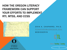 K-12 Oregon Literacy Framework
