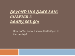 Beyond the Bake Sale Chapter 3 Ready, Set, Go!