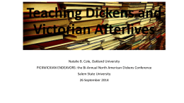 Teaching Dickens and Victorian Afterlives