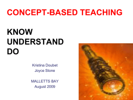 CONCEPT-BASED TEACHING & KNOWs, UNDERSTANDs, …