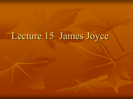 Lecture 15 of Book II James Joyce