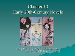 Chapter 13 20th-Century Novels and Other Prose