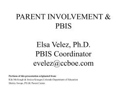 FAMILIES & PBIS - ppt