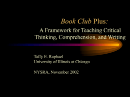Book Club + - University of Illinois at Chicago