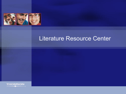Language Resource Center - Library Research