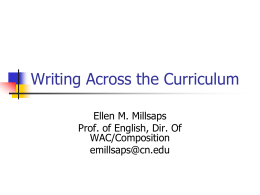 Writing Across the Curriculum - Stephens